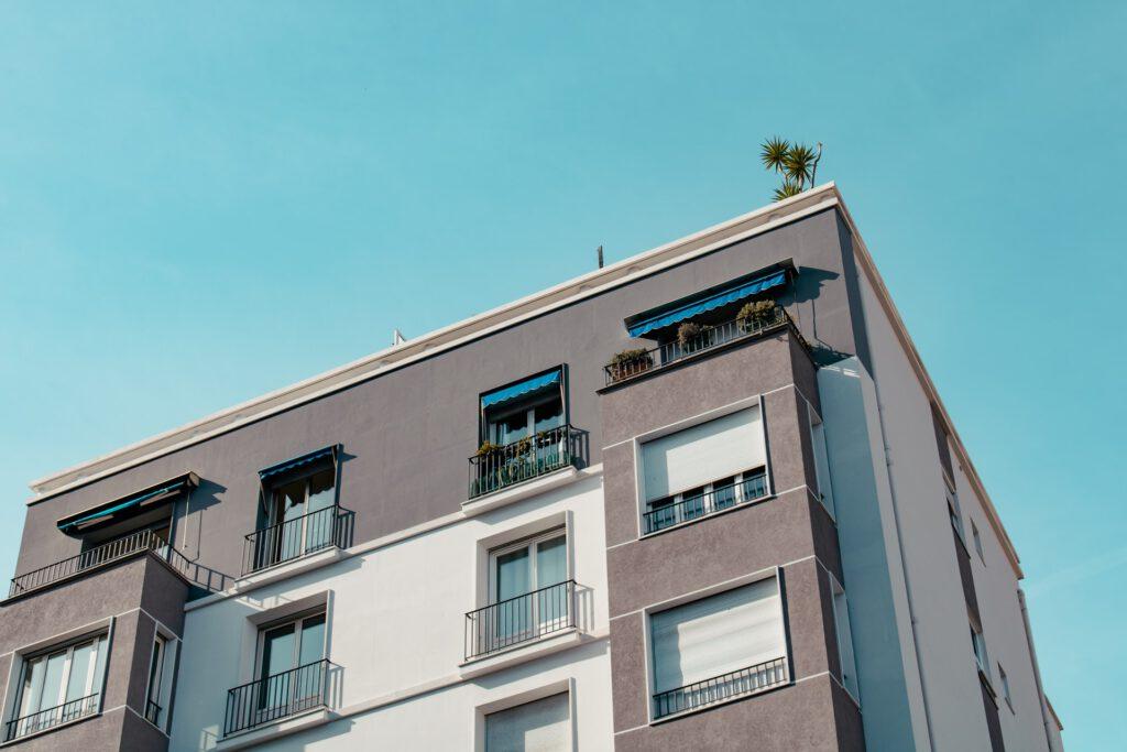 Wohngebäude eines Vermieters